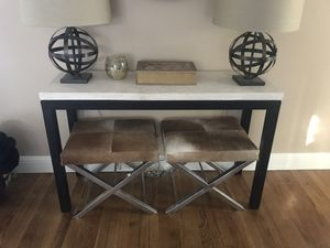 Crate and Barrel travertine Console Table for Sale in Woodside, CA