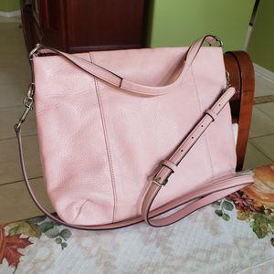 Coach Crossbody Bag Light Pink Leather Meduim Size Sling Messenger Shoulder Bag for Sale in St. Cloud, FL