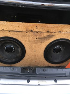 """Polk Audio 12"""" subs in box along with Diamond Audio Amplifier for Sale in Knoxville, TN"""