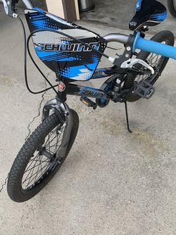 Schwinn Boy Amplify Kids Bike - Black, Blue & Silver, 18 inch for Sale in Fresno,  CA