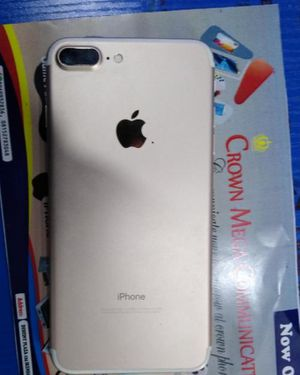 Apple iPhone 7 plus Gold Unlocked 128GB RAM 8GB Very Clean and working perfectly No scratch Good condition for Sale in Eldersville, PA