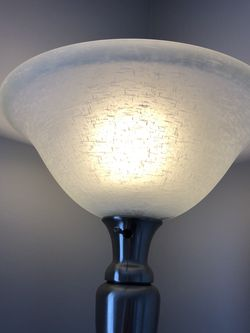 Brushed Silver Floor Tourchiere Lamp for Sale in Manassas,  VA