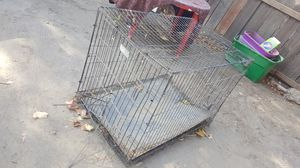 Used large dog cage for Sale in Modesto, CA