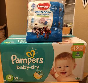 Diaper and wipes bundle for Sale in Fontana, CA