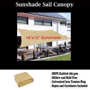 New 16x12 ft Patio Sunshade Sail Sun Screen Pool Shade Garden for Sale in Riverside, CA
