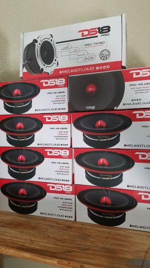 DS18 audio pro mids door speakers super loud ! size. 6 inch , 6 1\2 , 6 3/4 ( $35 each cada una) for Sale in Galena Park, TX
