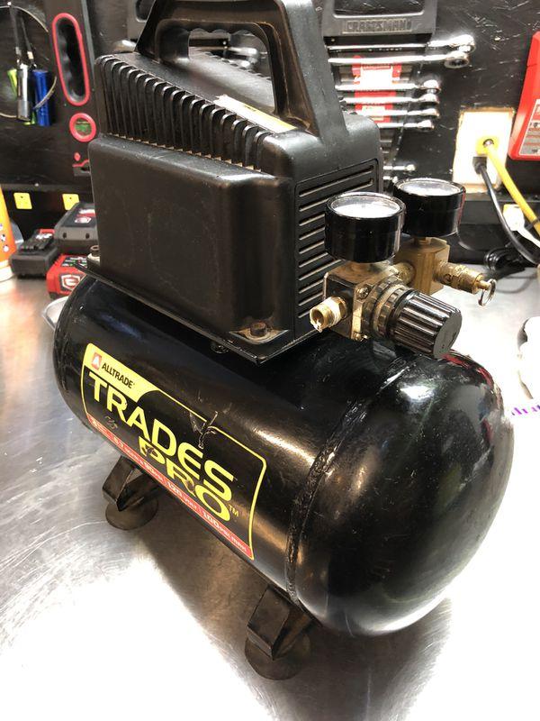 Alltrade trades pro 3 gallon 100 PSI air compressor model number 835183