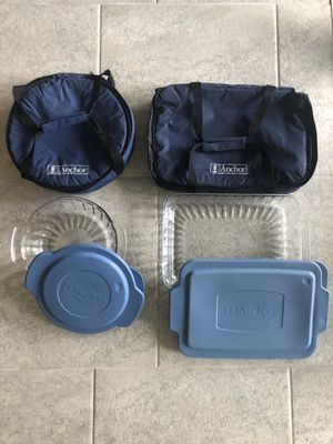 Baking set Anchor Casserole dishes with travel carrying case cook chef for Sale in FL, US