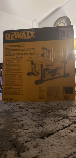 DEWALT TABLE SAW for Sale in Federal Way, WA