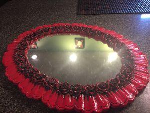 Antique wooden carved rose mirror for Sale in Toms River, NJ