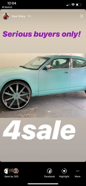 2008 Dodge Charger 93k miles $8,000 with 30 inch rims $5,000 with out rims for Sale in Lutz, FL