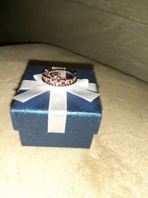 Plated rose gold princess tiara ring only size 8 for Sale in Houston, TX