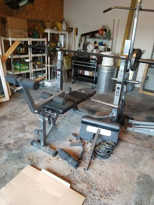 Bench press with w8s and the bars. Or best offer. Must pick up. Call {contact info removed} for Sale in Saginaw, MI
