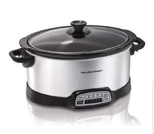 Hamilton beach - slow cooker, programmable, 7 quart, silver for Sale in West McLean, VA