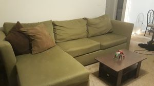 Small olive green sectional couch for Sale in Decatur, GA