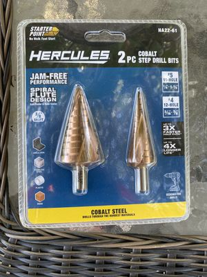 Cobalt steel step drill bits 2 pc for Sale in Lindsay, CA