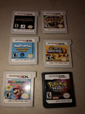 Lot of 6 Nintendo 3DS / DS Games Pokemon Pearl, Super Mario 2, Mario Party-More!. All games include Mario Party Island Tour Super Mario Bros 2 P for Sale in Lowellville, OH