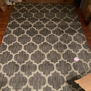 Outdoor / Indoor Rug All Weather Black And Beige for Sale in Seattle, WA