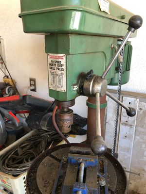 Industrial Central Machinery Drill Press, Compressor, and other things for Sale in Hesperia, CA