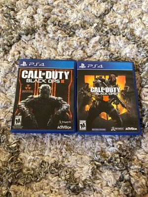 PS4 Call of Duty Black Ops 3 and 4 Bundle for Sale in Glendora, CA