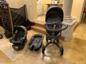 Stokke car seat + stroller + carry cot for Sale in Lake Mary, FL