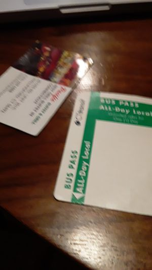 2 for 10.00 all day bus passes for Sale in Hartford, CT