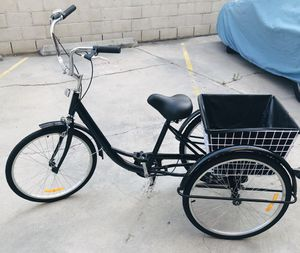 "NEW 24"" Black Tricycle w/ Big Basket and Lock! for Sale in Huntington Beach, CA"