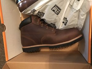 MEN'S TIMBERLAND STEEL TOE WORK BOOTS for Sale in Kissimmee, FL