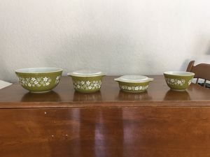 Pyrex bowls, spring blossom or crazy daisy design. for Sale in Plantation, FL