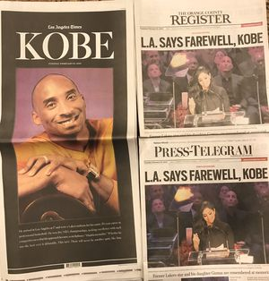 Kobe L.A. Times / Press Telegram /OC Register for Sale in Cerritos, CA