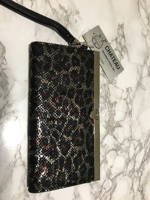 Metallic cheetah print clutch/wallet for Sale in Oakland, CA