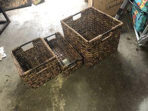 NEW media bin crate wicker storage milk crate for Sale in Shoreline, WA