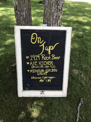 On tap chalkboard for Sale in Pine River, MN