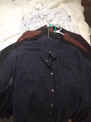 Dress shirts-$3 dollars a piece or $15 for all for Sale in Everett, WA