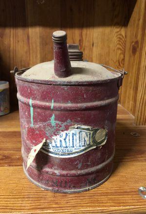 Antique Martin Ware gas can for Sale in Dinuba, CA