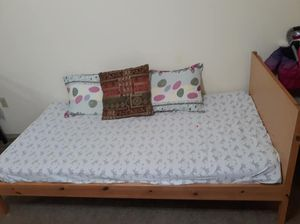 IKEA twin size bed frame with 2 twin size mattresses for Sale in Bentonville, AR
