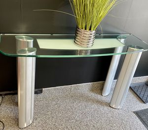 Glass & Chrome Entrance table for Sale in Natick, MA