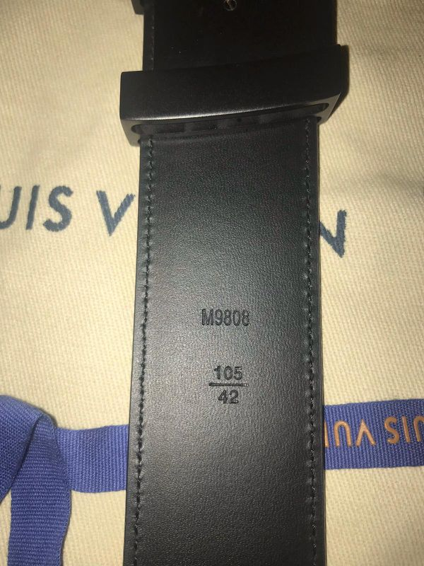Graphite damier belt