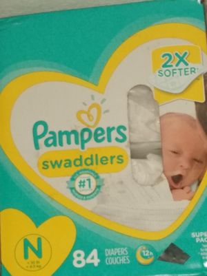 Pampers swaddlers newborn 84 count for Sale in Los Angeles, CA