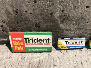 1970s Metal Trident Gum Candy Rack Mini Signs for Sale in Seattle, WA