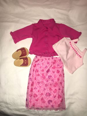 American Girl Doll Pink Heart Valentine Outfit for Sale in Hillsboro, OR