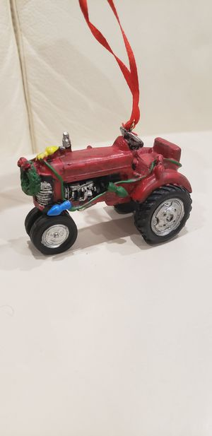 "Red tractor Christmas tree ornament 3.25"" new decoration for Sale in Ontario, CA"