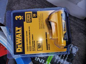 Dewalt 12 volt. 3.0 Dewalt battery Factoy sealed for Sale in Fresno, CA