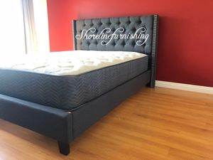 New queen size bed frame and mattress for Sale in Redondo Beach, CA