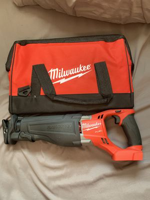M18 FUEL 18-Volt Lithium-Ion Brushless Cordless SAWZALL Reciprocating Saw with Bag for Sale in Wimauma, FL