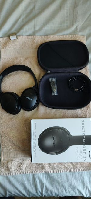 Bose QuietComfort 35 (Series I) Wireless Headphones, Noise Cancelling - Black for Sale in Tampa, FL