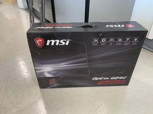 """MSI curved 24""""gaming monitor G24C, FHD LED 144hz, 1ms, FreeSync Tech, Gaming mode HDMI/Display port for Sale in Cypress, CA"""