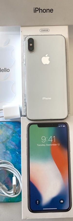🔥256GB IPHONE X UNLOCKED WORKS W/ANY CELLPHONE CARRIER WE CAN MEET AT ANY CELLPHONE STORE VERIFY EVERYTHING WORKS💯%👍🏼 for Sale in San Diego, CA