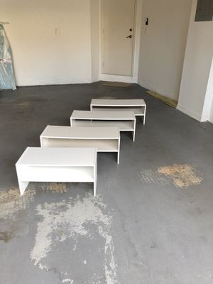 White Shoe Racks (4x) for Sale in Miami, FL