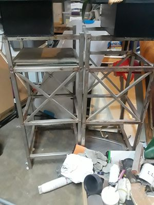 free metal and glass shelves for Sale in Riverside, CA